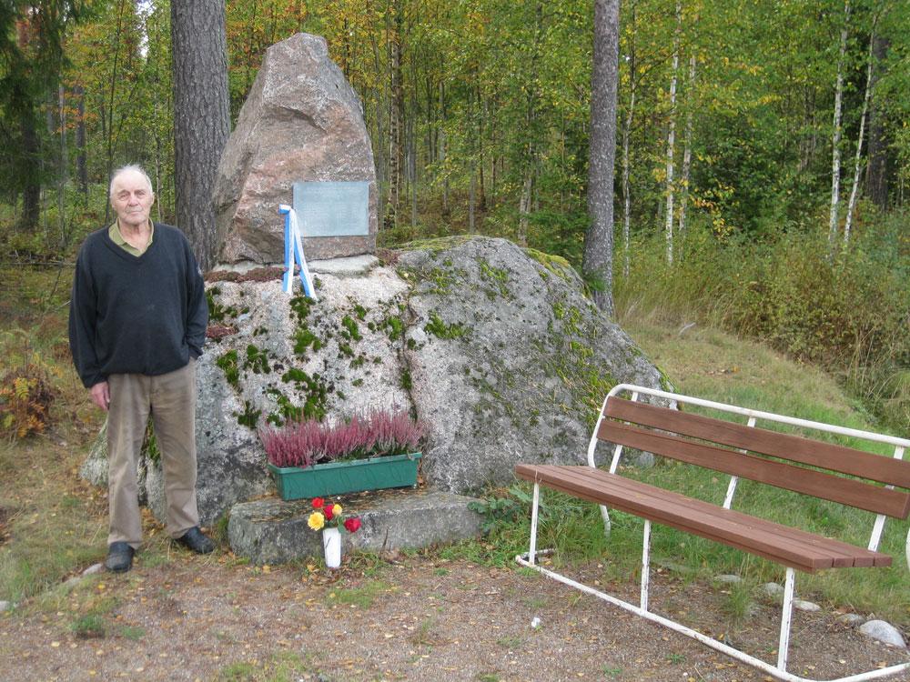 Muistomerkin kivi 2010